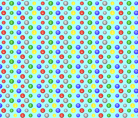 Bingo Balls shorts fabric by dd_baz on Spoonflower - custom fabric