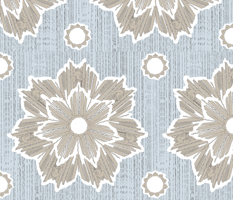 ROXY STAR in taupe & ice_blue fabric by trcreative on Spoonflower - custom fabric