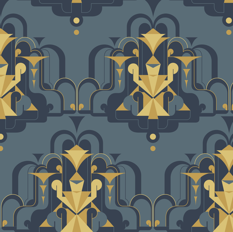 deco fountain fabric by theboerwar on Spoonflower - custom fabric