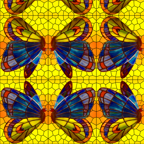 stained glass butterfly fabric by krs_expressions on Spoonflower - custom fabric