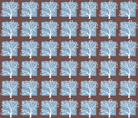 Tree Square-blue fabric by amy_frances_designs on Spoonflower - custom fabric