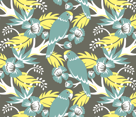 Art Deco Parrot fabric by needlebook on Spoonflower - custom fabric