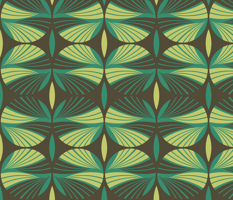 Mod Fronds fabric by ravenous on Spoonflower - custom fabric