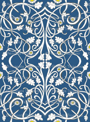 Blue Art Deco