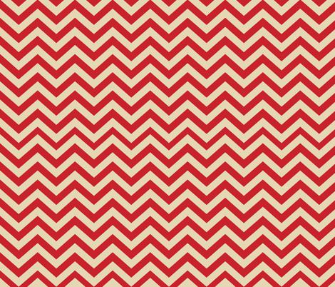 Mushroom Madness Chevron in Red and Cream fabric by bella_modiste on Spoonflower - custom fabric