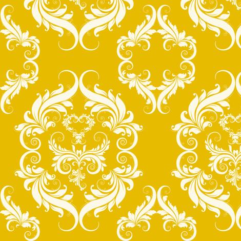 Yellow_Damask_E6BB00 fabric by cksstudio80 on Spoonflower - custom fabric