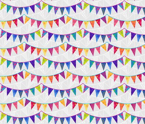 Birthday Bunting fabric by coggon_(roz_robinson) on Spoonflower - custom fabric
