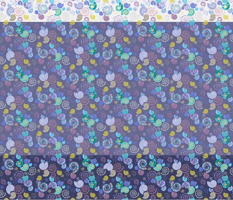 Ammonite ditsy selection fabric by coggon_(roz_robinson) on Spoonflower - custom fabric