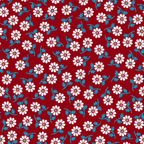 Love Letter Daisies fabric by siya on Spoonflower - custom fabric