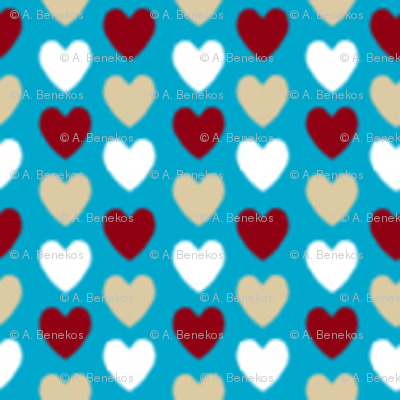 Love Letter Micro Hearts - Blue