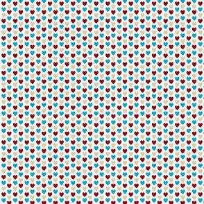 Love Letter Micro Hearts - White