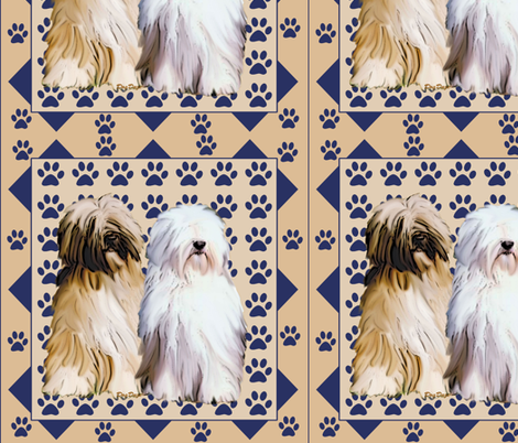 tibetan_terrier_with_pawprints fabric by dogdaze_ on Spoonflower - custom fabric