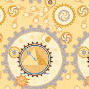 Steampunk Mosaic Time Machine -- Large version  ©2012 by Jane Walker