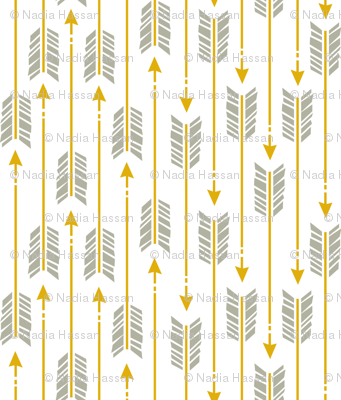 Small Arrows: Gray and Gold