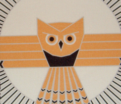 Art Deco Moon Owl 2 - 4 color