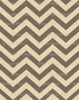 Mushroom Madness Chevron in Brown and Cream