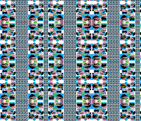 Africa's heart fabric by _vandecraats on Spoonflower - custom fabric