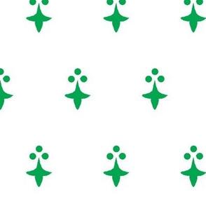 Ermine argent and vert