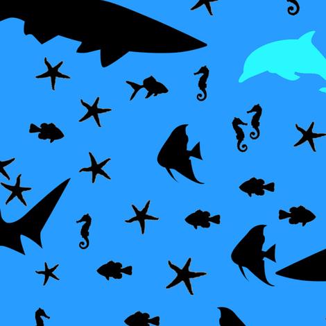 sea creatures fabric by annekul on Spoonflower - custom fabric