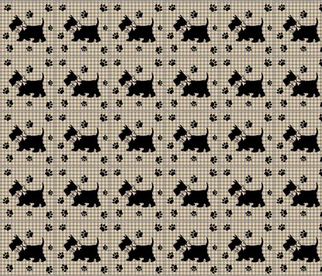PLAID N PAWS fabric by bluevelvet on Spoonflower - custom fabric