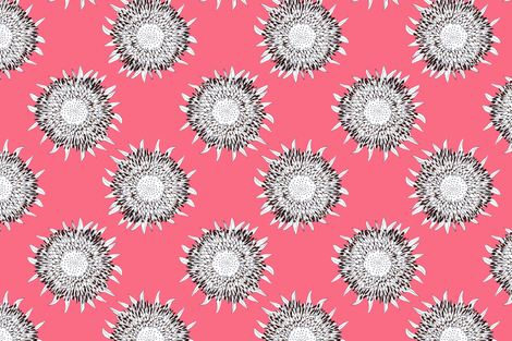 Sunflowers in Pink fabric by prettypenny on Spoonflower - custom fabric