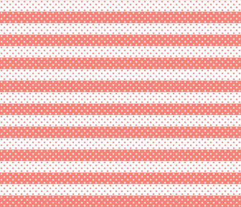 dotted stripes coral fabric by georgeandgracie on Spoonflower - custom fabric
