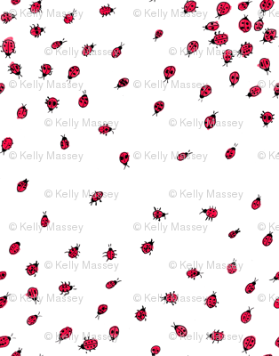 Scattered Ladybugs
