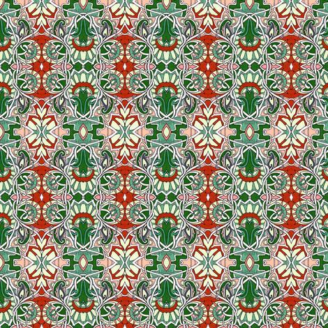 Modern Victorian Christmas fabric by edsel2084 on Spoonflower - custom fabric