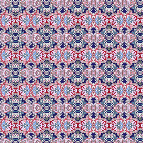 Patriotic Nouveau Love fabric by edsel2084 on Spoonflower - custom fabric