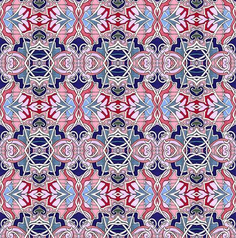 Patriotic Nouveau Love fabric by edsel2084 on Spoonflower - custom fabric