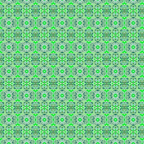 Tiny Green Granny Print fabric by edsel2084 on Spoonflower - custom fabric