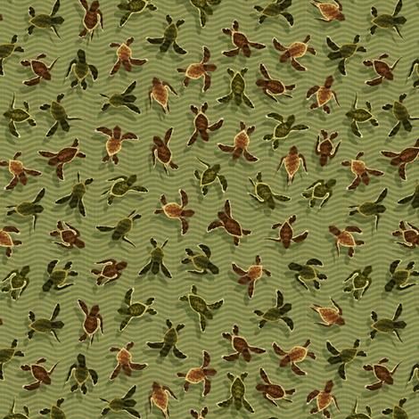 Turtles All the Way Down fabric by clairehummel on Spoonflower - custom fabric