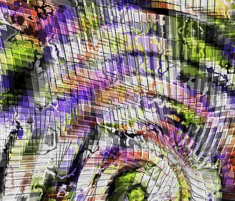 QuantumPrayerWheel_a fabric by k_shaynejacobson on Spoonflower - custom fabric