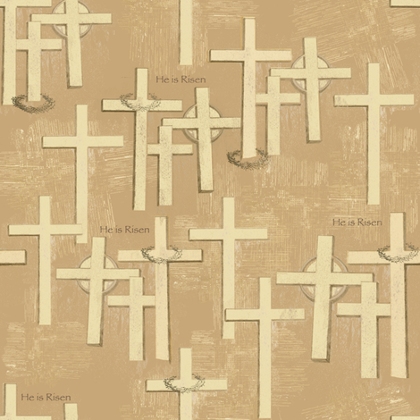 Resurrection Crosses fabric by petals_fair_-_peggy_brown on Spoonflower - custom fabric