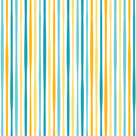 yellow sea stripe fabric by charlotteandstewart on Spoonflower - custom fabric