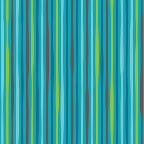 blue sea stripe fabric by charlotteandstewart on Spoonflower - custom fabric