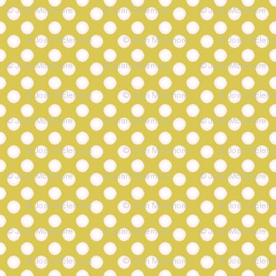 Polka dots on gold