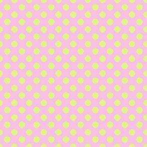 Nursery pink polka dots