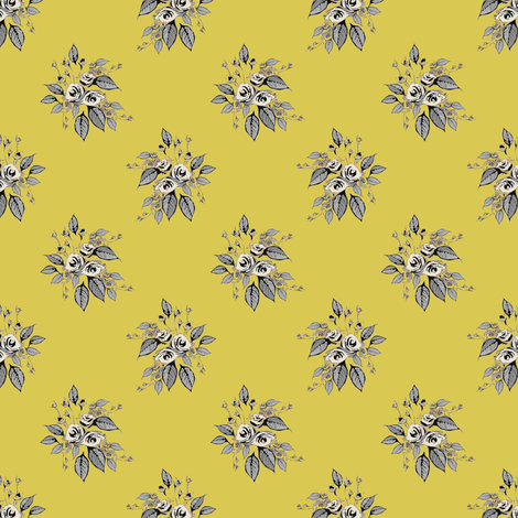 Farmhouse Roses Stella fabric by joanmclemore on Spoonflower - custom fabric