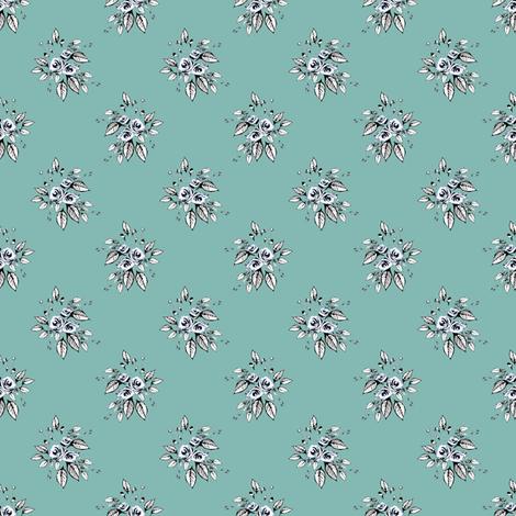Farmhouse Roses Leah fabric by joanmclemore on Spoonflower - custom fabric