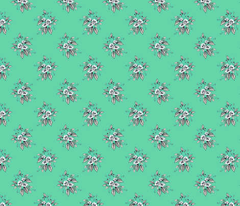 Farmhouse Roses Grace fabric by joanmclemore on Spoonflower - custom fabric