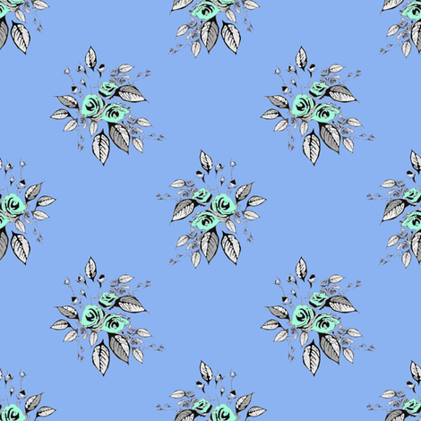 Farmhouse Roses Ginny (larger print) fabric by joanmclemore on Spoonflower - custom fabric