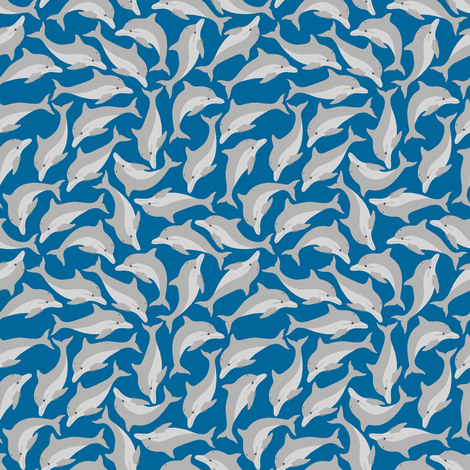 ditsy dolphins fabric by sef on Spoonflower - custom fabric