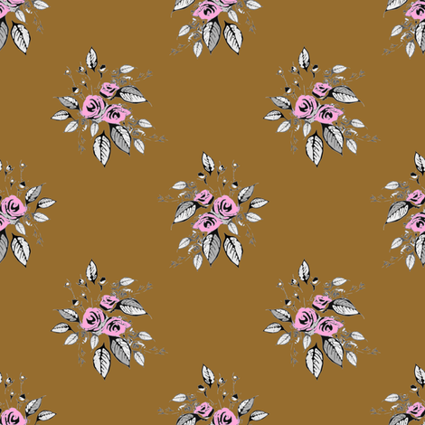 Farmhouse Roses Eva fabric by joanmclemore on Spoonflower - custom fabric