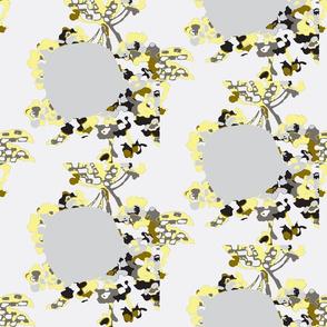 Floral Polka Gray