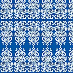 Blue swirly lace