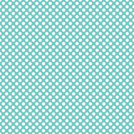 Farmhouse Dots Aqua fabric by joanmclemore on Spoonflower - custom fabric