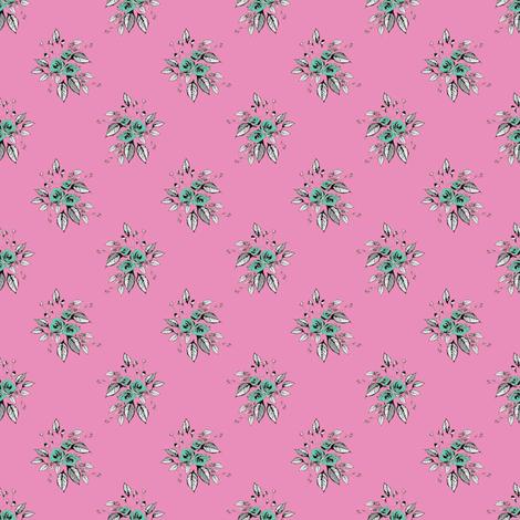 Farmhouse Roses Dora fabric by joanmclemore on Spoonflower - custom fabric