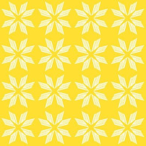 White Yellow Star