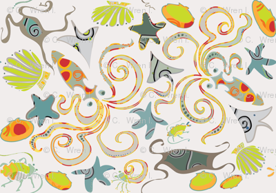 Sea Creatures Ditsy